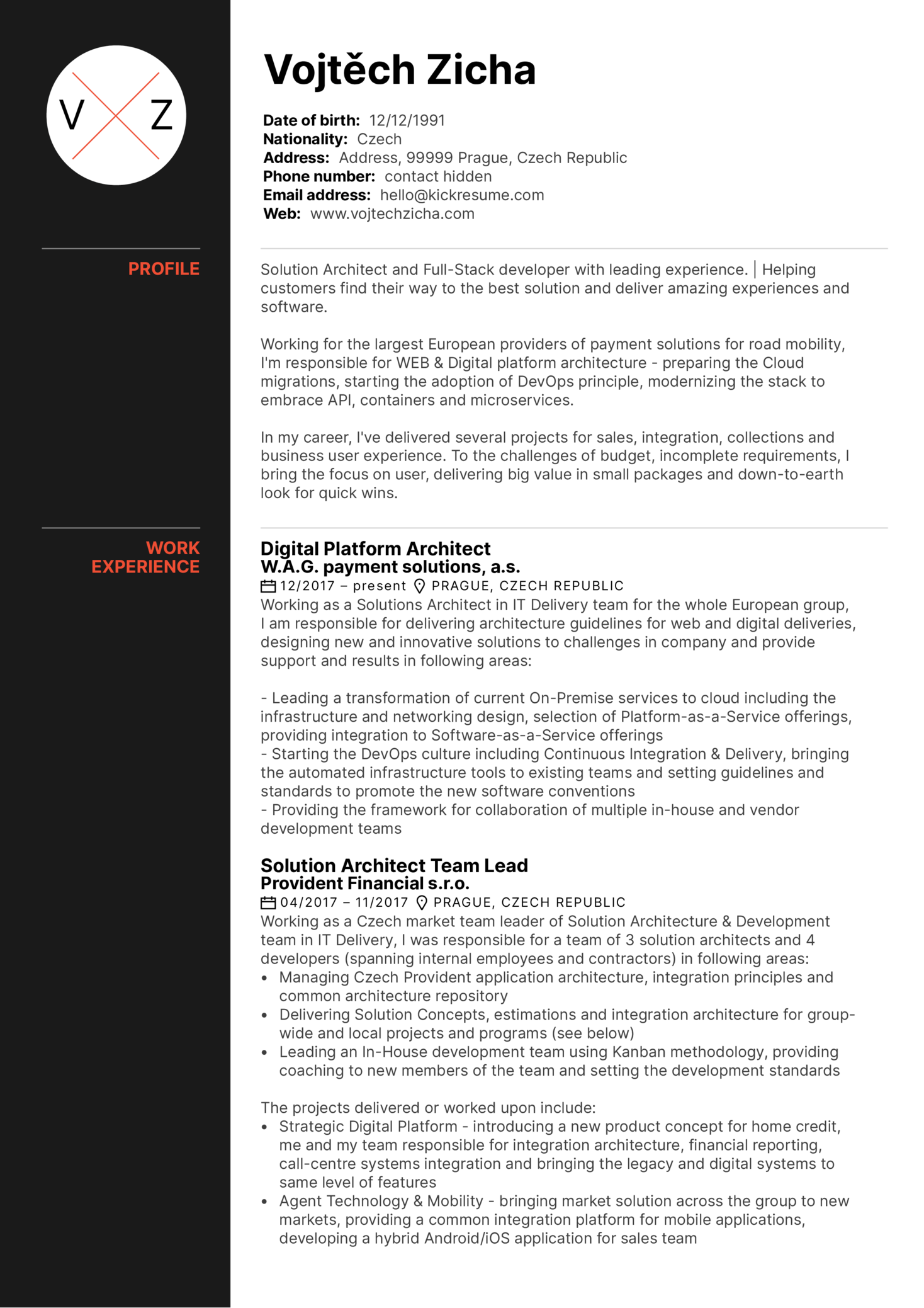 sample resume for security positions