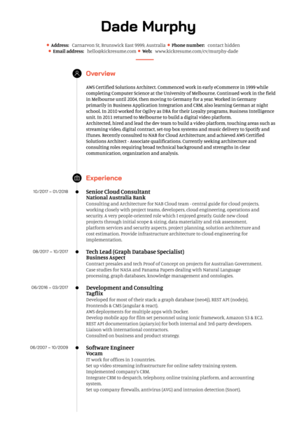 software architect resume samples pdf