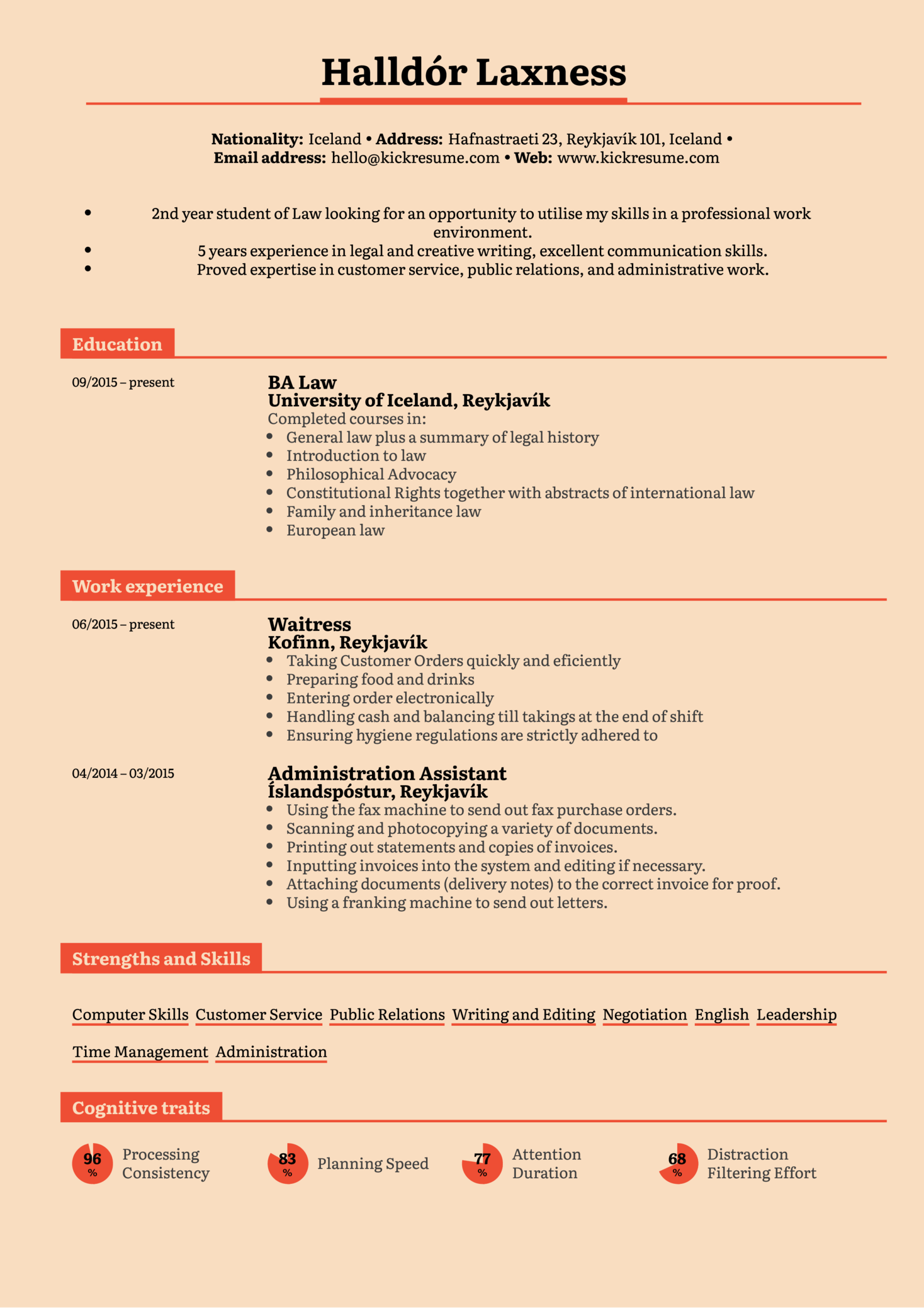 Examples Of A Resume Resume Examples By Real People Student Resume Law Internship