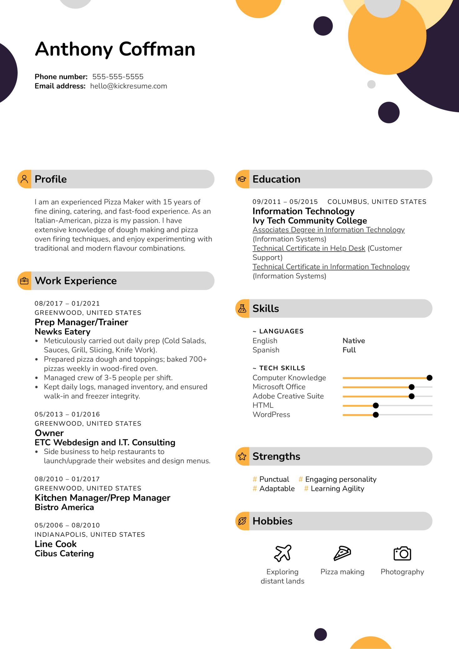 create a student resume
