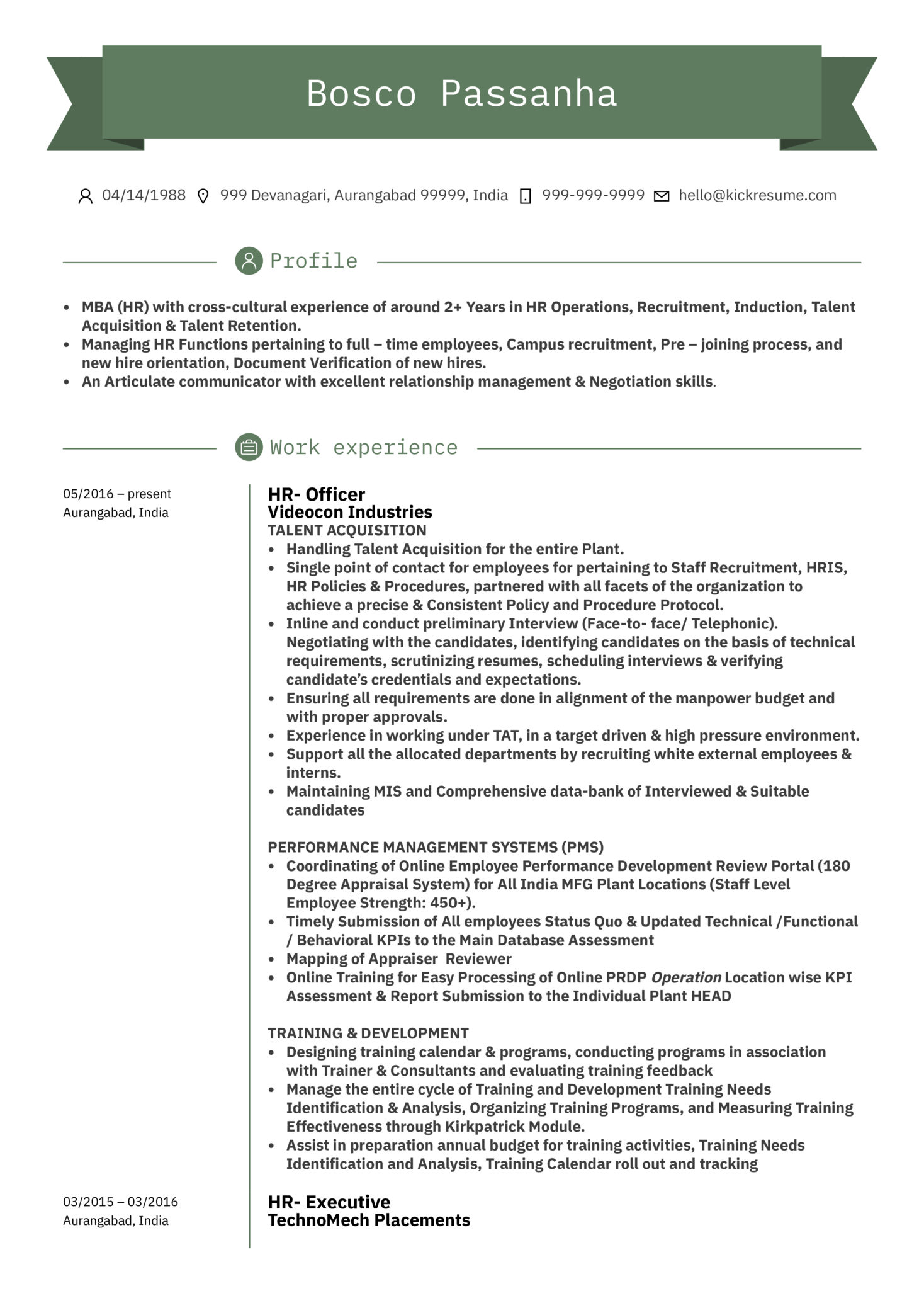 operation assistant resume sample