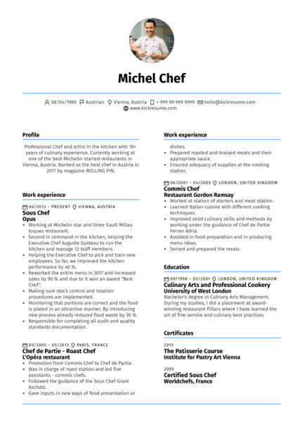 example de cv de chef d equipe production