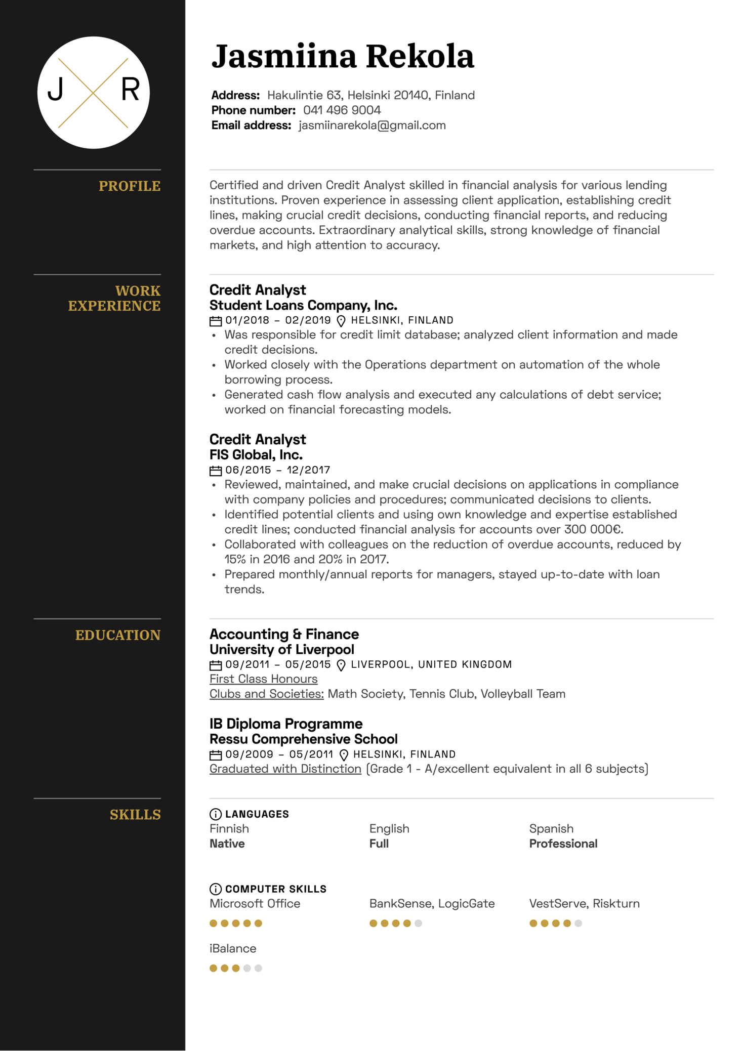 example of resume for operations management