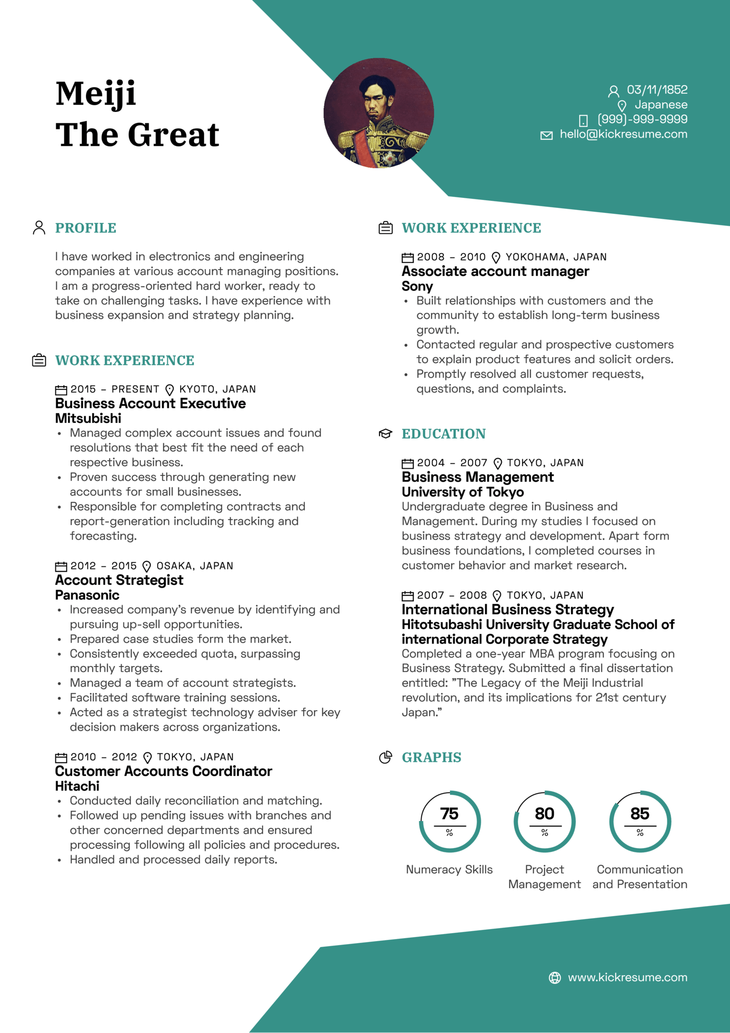 sample executive profile summary resume