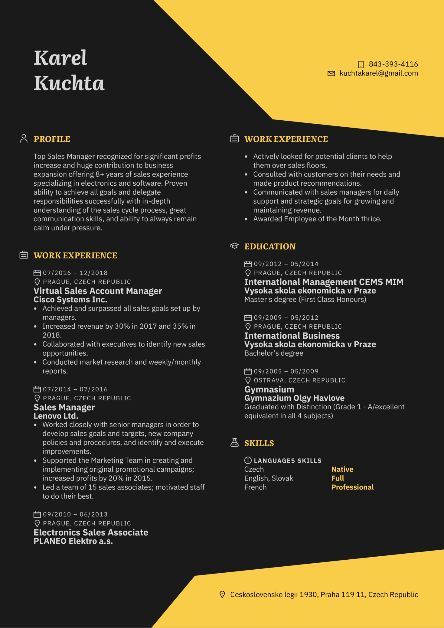 stunning sales manager resume that