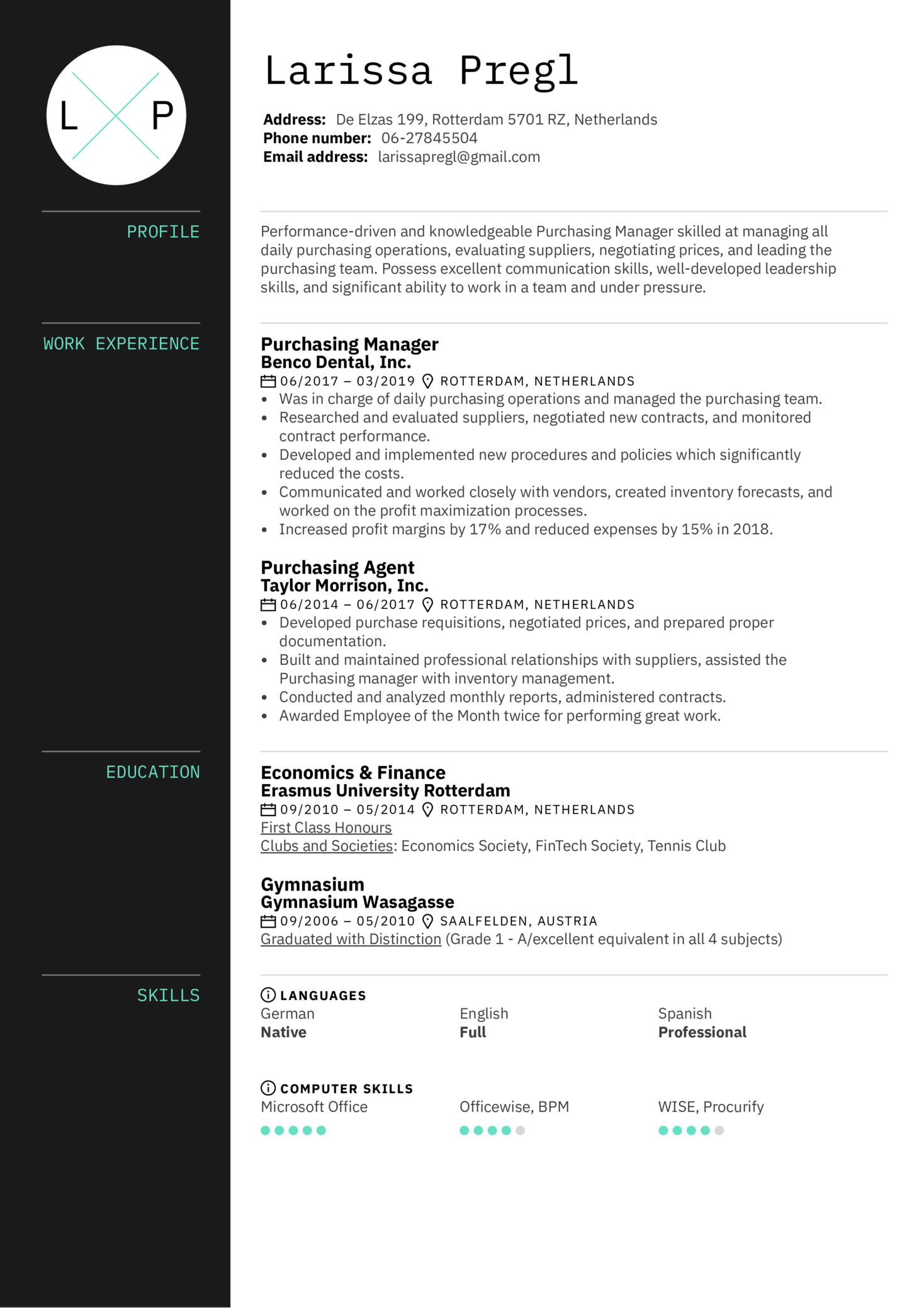 jewelry project manager resume sample