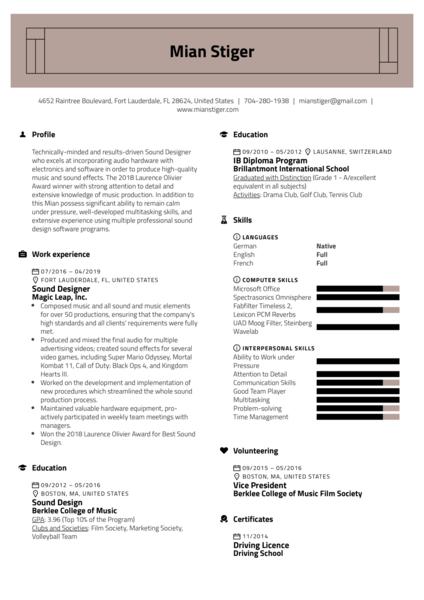 footwear designer resume samples