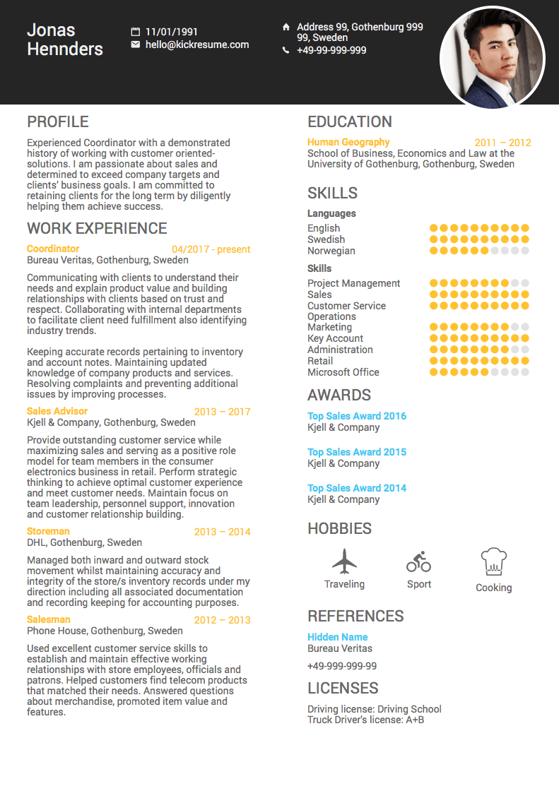 best cv summary