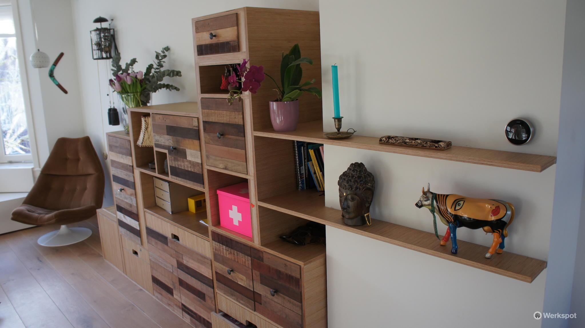 Zelf Kast Ontwerpen : Zelf kast ontwerpen boekenkast steigerhout zelf maken be the bill