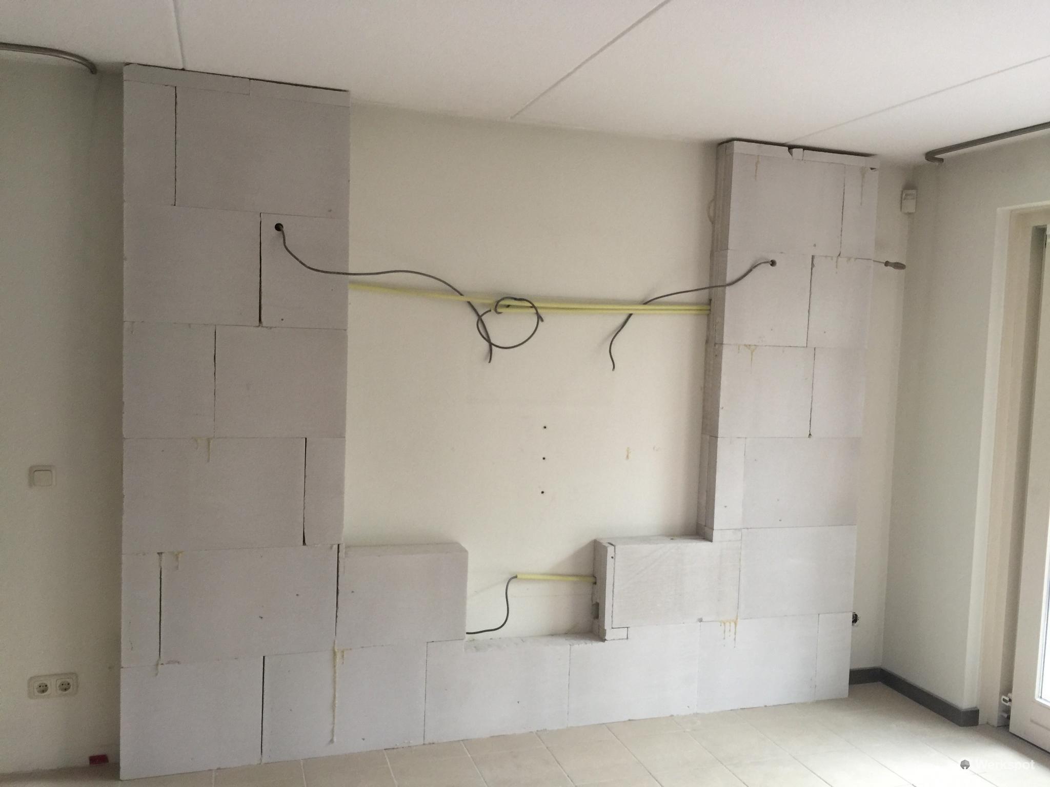 Gestucte Muur Badkamer : Binnenwand badkamer stucen van ca m binnenwand spijkenisse