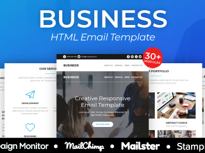 Business - Responsive Email Template 30+ Modules - StampReady