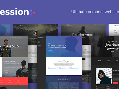 Profession - Personal Resume vCard Template (Virtual Business Card