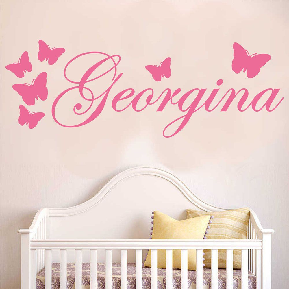 Personalised Sticker Details About Wall Sticker Name Decal Personalised Names Vinyl Art Stickers Wallpaper For Kids