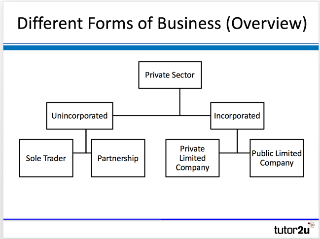3 forms of business ownership