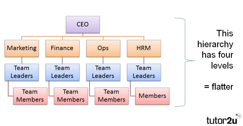 Hierarchy Tutor2u Business