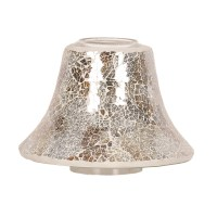 Gold and Silver Crackle Jar Lamp Shade 16cm