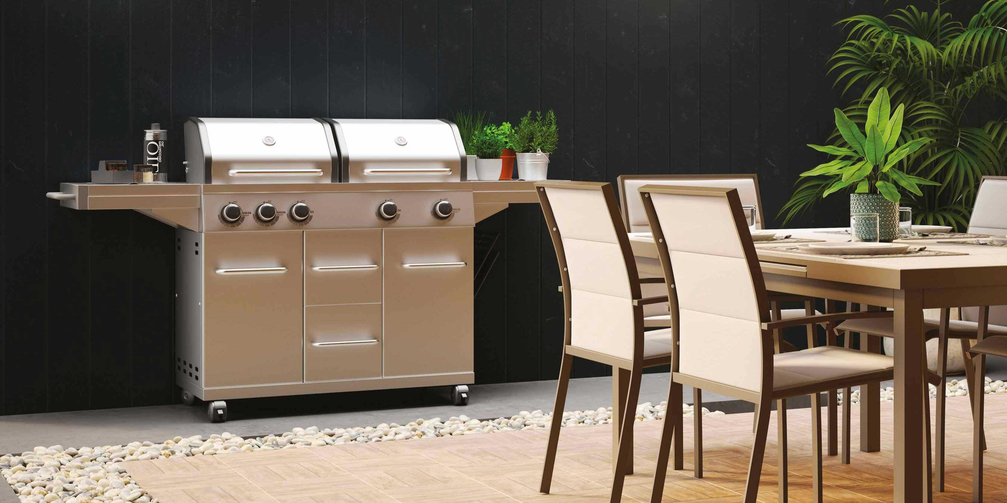 Cucina In Muratura Per Esterni Con Barbecue | Cucina Da Esterno Con ...