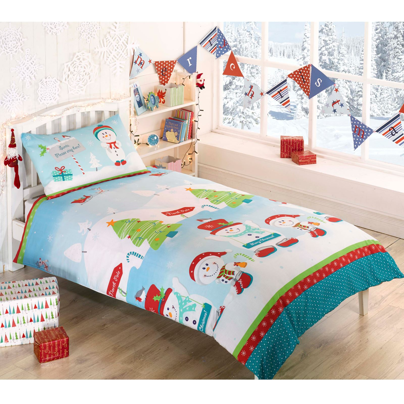 Catherine Lansfield Christmas Bedding Levtex Noelle Fullqueen Quilt Set Whitered Script Cotton Christmas