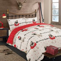 Dreamscene Pug Duvet Cover with Pillow Case Bedding Set OR ...