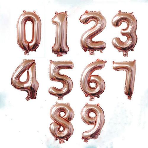 762cm Letra grande METALIZADO Número Globos Aire Feliz Cumpleaños