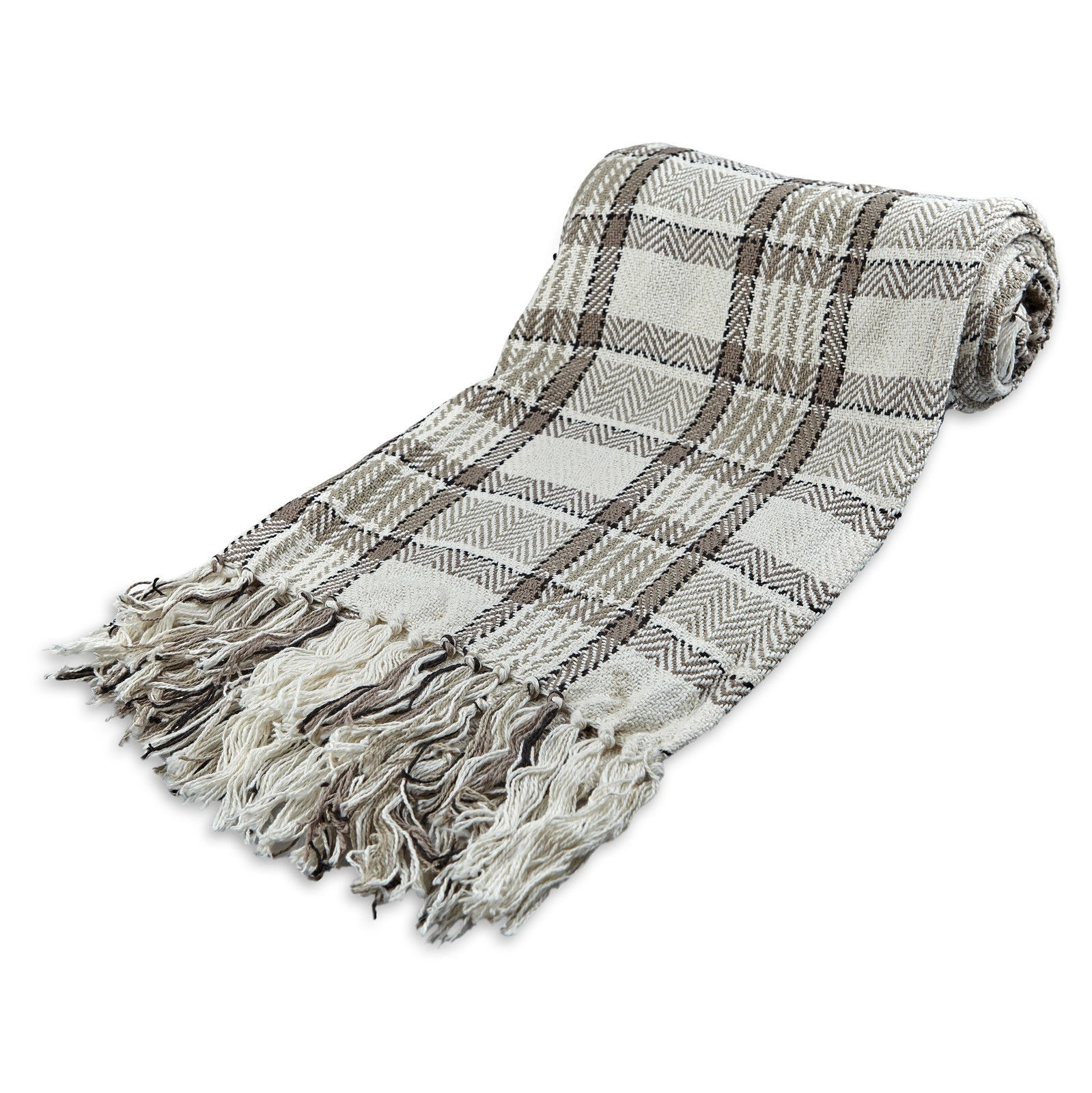 Sofa L Jumbo Large 100 Cotton Highland Tartan Check Sofa Bed Throw 4 Colours 5 Sizes Natural King Size Extra Jumbo L