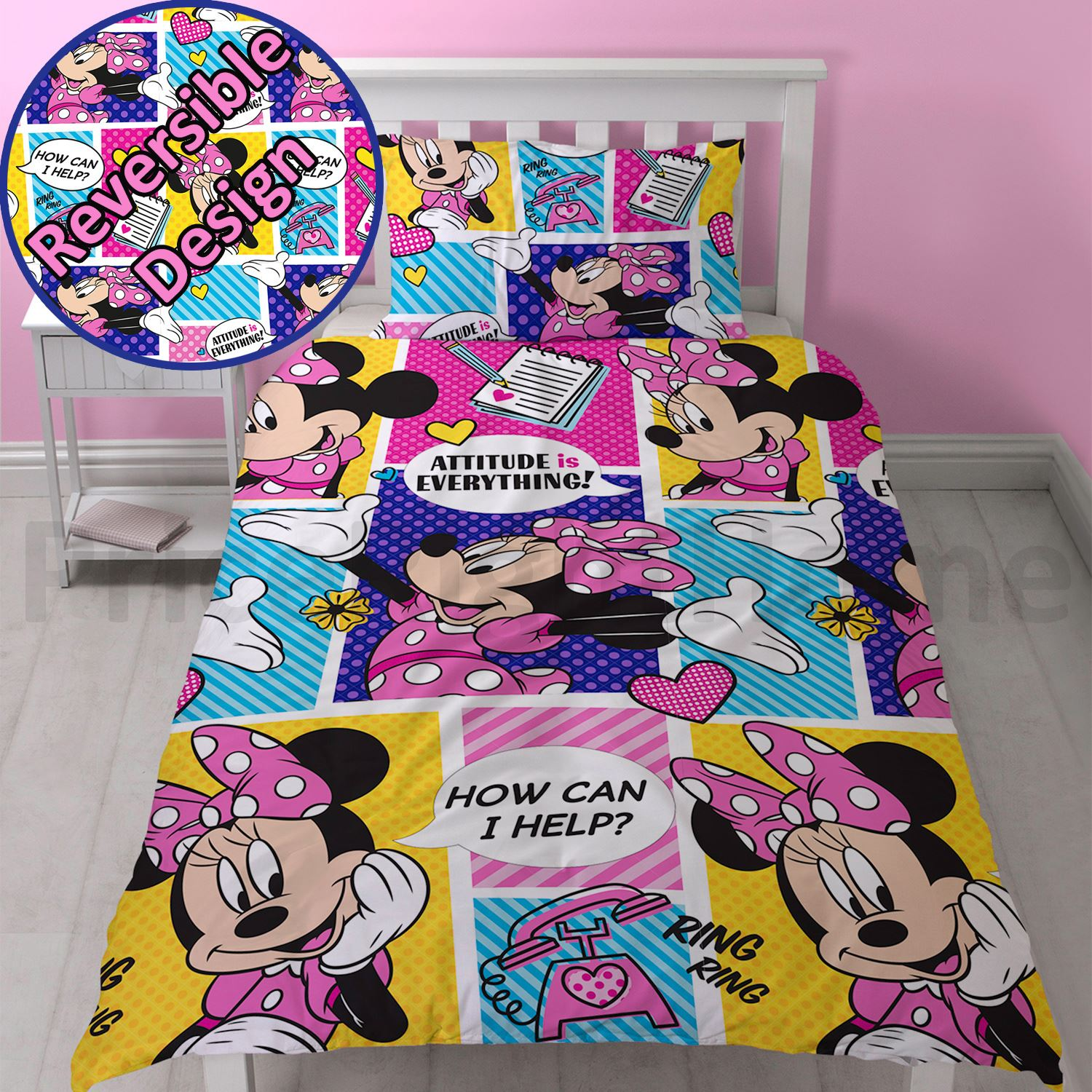 Mickey Mouse Bettwäsche Lidl Disney Mickey Oder Minnie Mouse Einzeln Junior Bettbezug