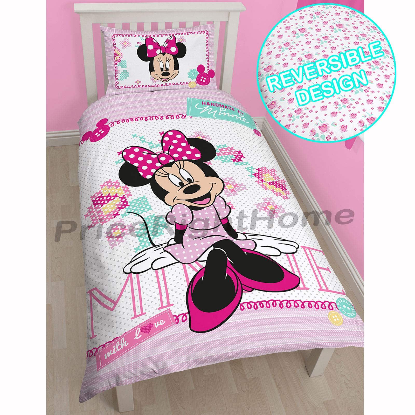 Bettwäsche Minnie Maus Minnie Mouse Bettwäsche 100x135