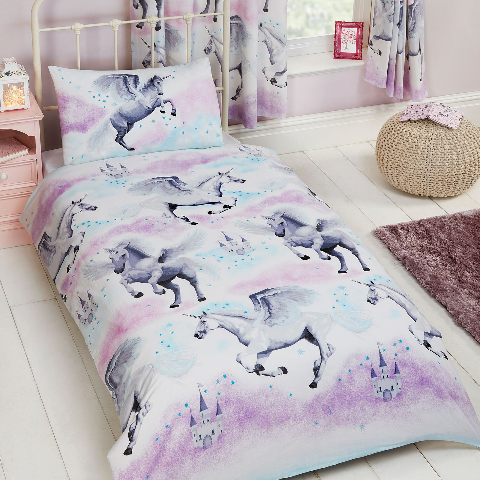 Angry Birds Bettwäsche Kids Single Duvet Cover Sets Boys Girls Bedding Unicorn