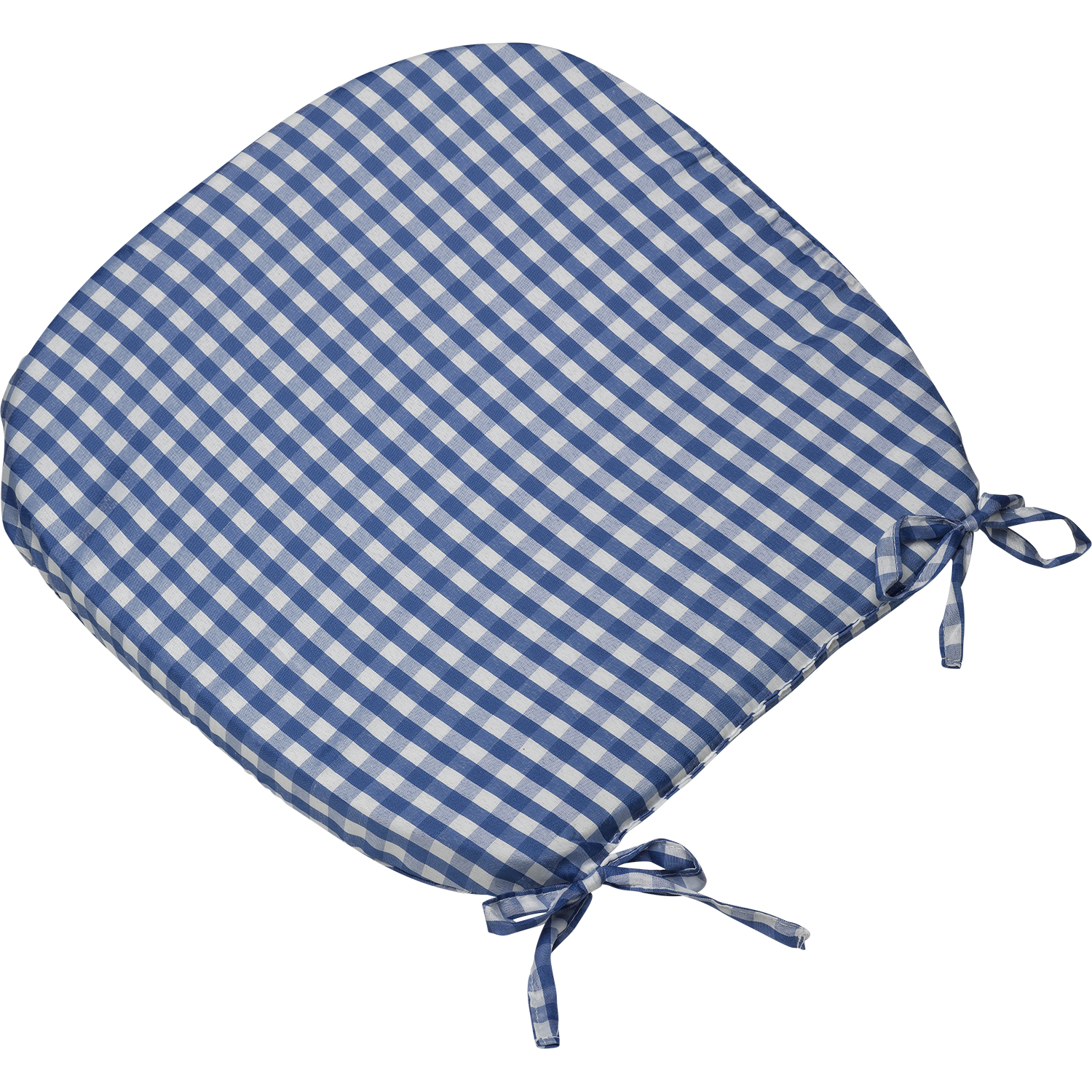 311446214269 2278 I 113 894 gingham check round seat pad outdoor dining cushion blue
