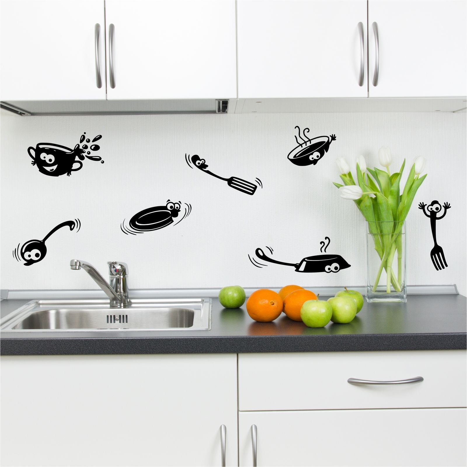 Stickers Porte De Placard Cuisine Placard Cuisine Cartoon Stickers Autocollant De Vinyle