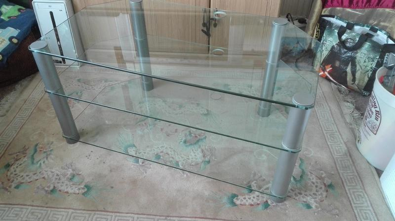 Large Glass Tv Stand Free Ryde Wightbay