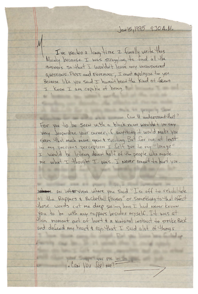 Tupac\u0027s break-up letter to Madonna to auction for $100,000