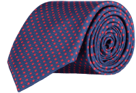 Cad & The Dandy | Spotted Silk Tie - Blue & Red - Cad ...