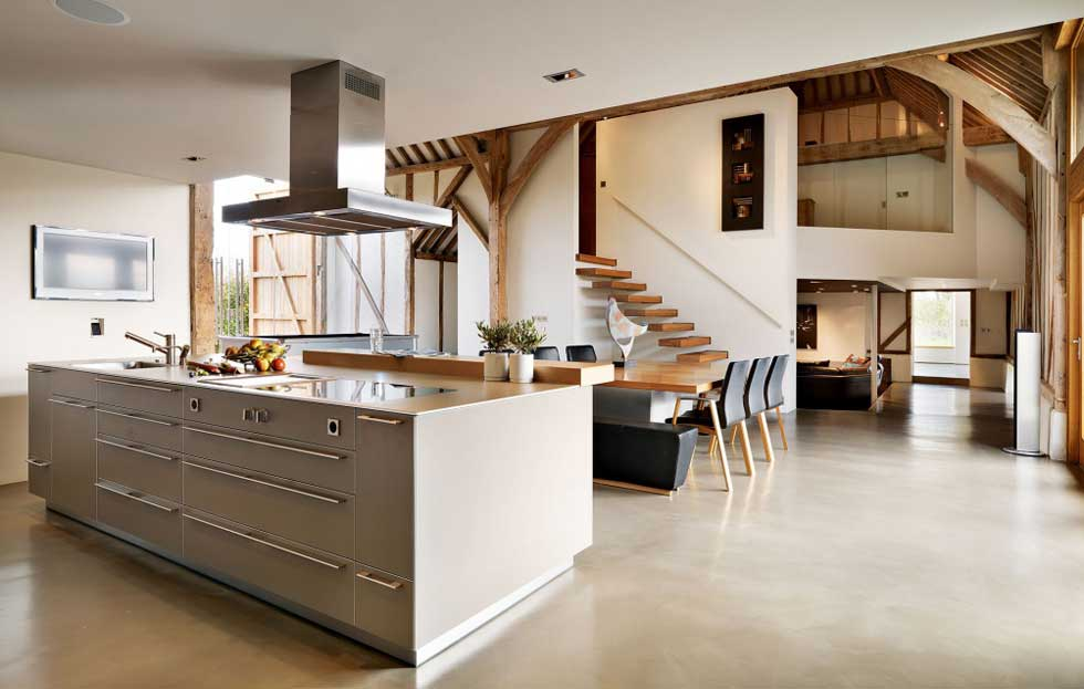 barn conversion with contemporary interiors