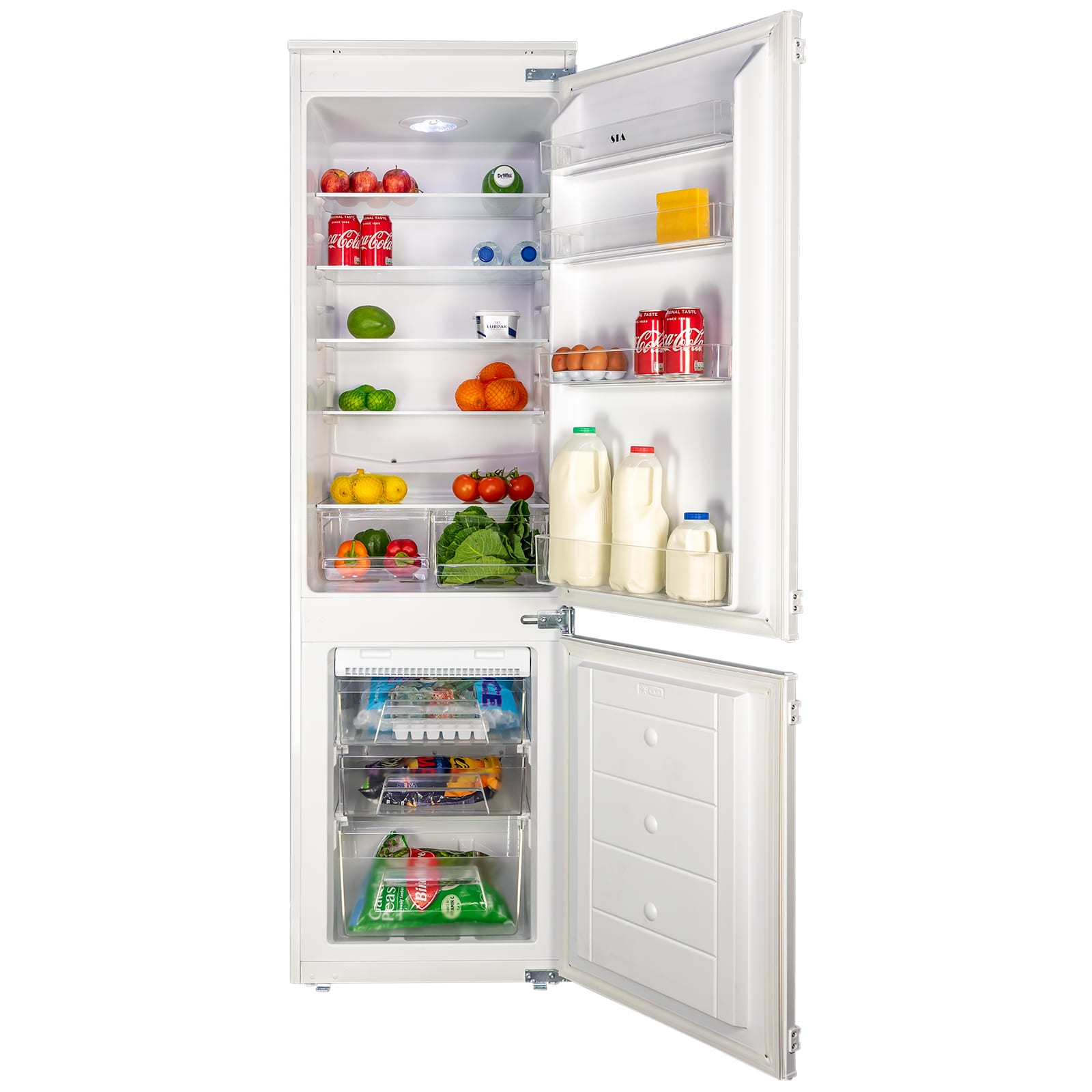Fridge Freezer Sia Rff101 70 30 White Integrated Built In Frost Free Fridge Freezer A Rating