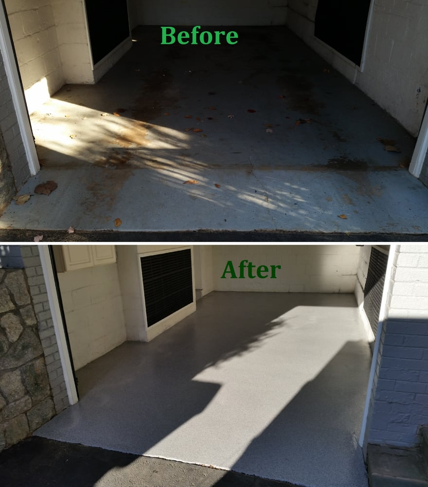 Garage Experts Epoxy Floor Before And After Diy Garage Floor Coating Removed And Replaced