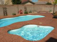 New Pool Install, Viking fiberglass pool , stamped colored ...