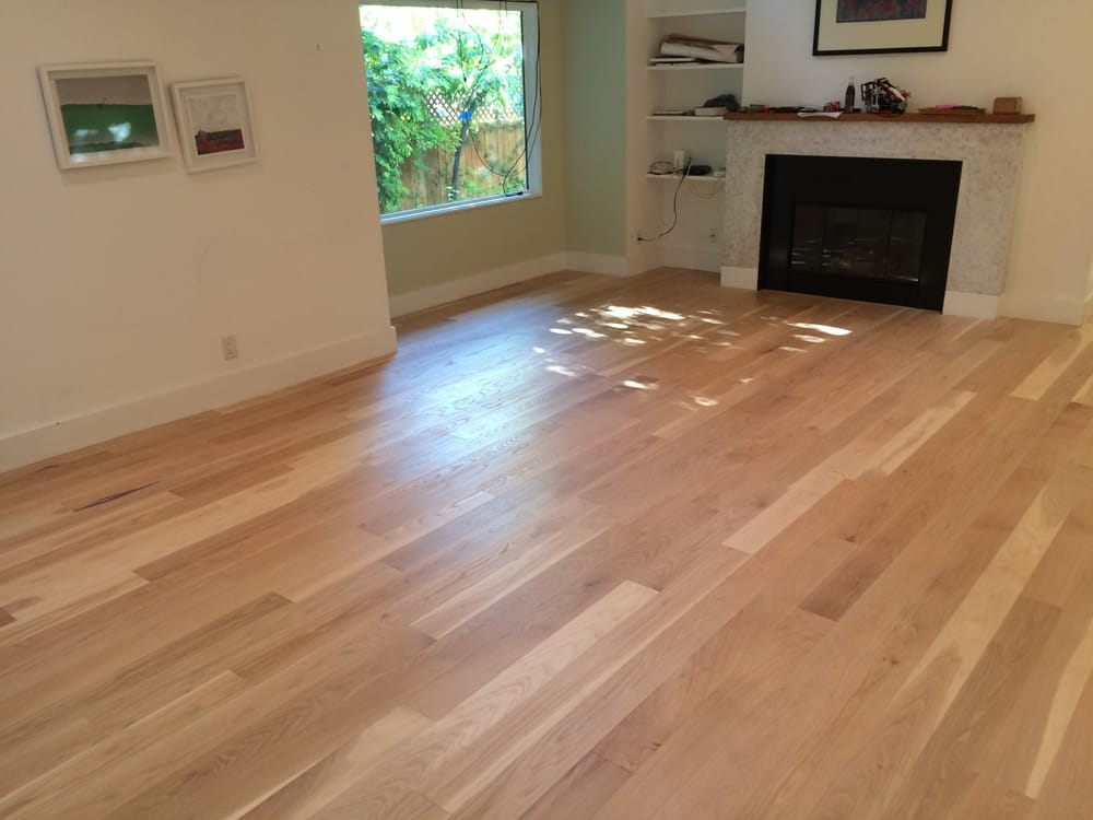 Living Room White Oak Floor Sanded And Finished In A