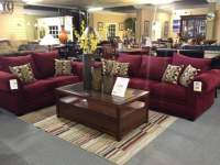 2 pc Berry corduroy oversized living room set. Sofa ...