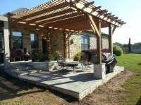 flagstone patio and pergola in Round Rock Tx - Yelp