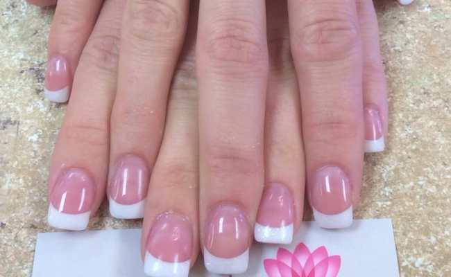 Acrylic Gel Manicure Shellac Best Nail Salon In Acworth Near Me Solar Pink And White Nail