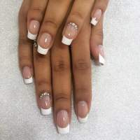 40 year old nail design gel nails with french design and ...