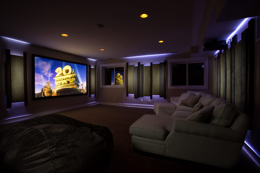 Projection Theater Features 120quot Acoustically Transparent