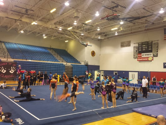 Lake Brantley High School Gymnasium - Gymnastics - 991 Sand Lake Rd