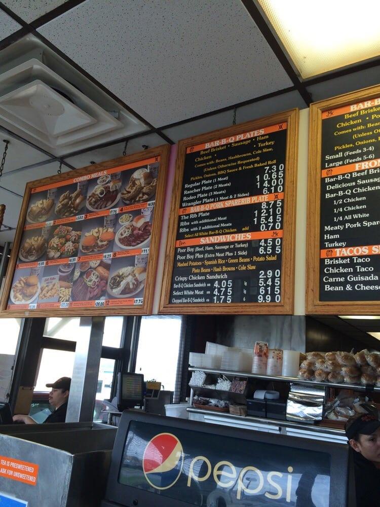 The menu, good bbq for good price - Yelp