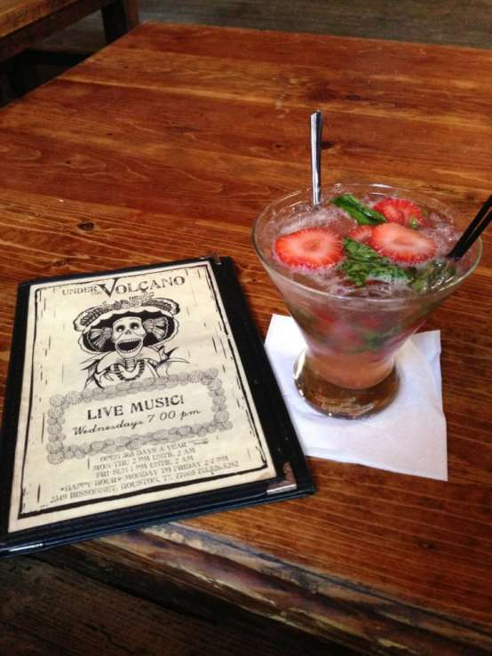 Under the Volcano - Houston, TX, United States. Strawberry Basil Margarita