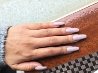 Nails by Lily!! Coffin shape, acrylic gel nails full set ...