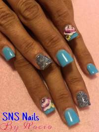 SNS nails with 3D designs by Rocio ! - Yelp