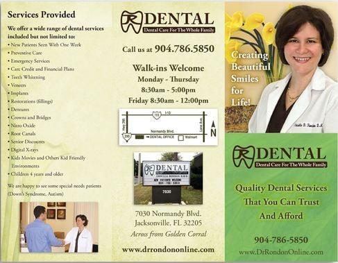 Dental Marketing Brochure sample - Yelp