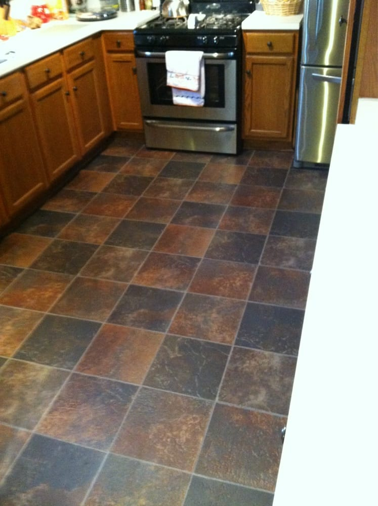Here Is A Pic Of The One Piece Vinyl Flooring That